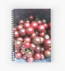 Black Cherry Tomatoes Spiral Notebook