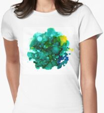 Teal Ocean Women's Fitted T-Shirt