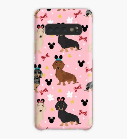 Dachshund theme park lover dog breed wiener dog gifts Case/Skin for Samsung Galaxy