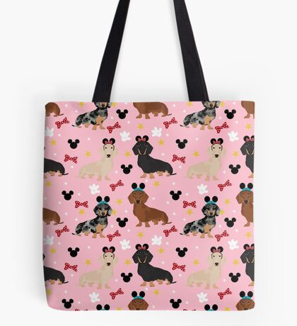 Dachshund theme park lover dog breed wiener dog gifts Tote Bag