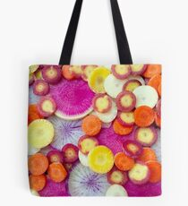 Fresh Sliced Roots Tote Bag