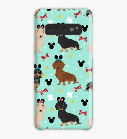 dachshund theme park dog lover vacation wiener dogs  Case/Skin for Samsung Galaxy