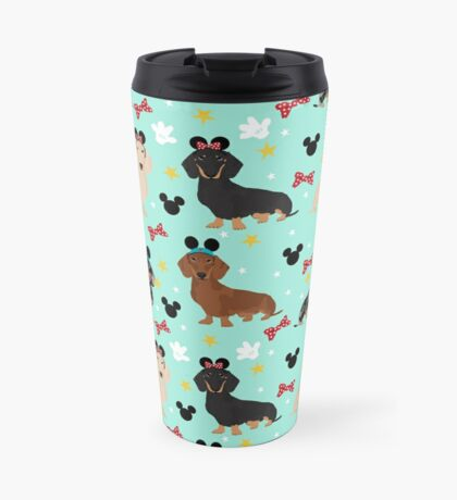 dachshund theme park dog lover vacation wiener dogs  Travel Mug