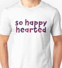 Happy Hearted - Motivation Zitat Mantra Slim Fit T-Shirt