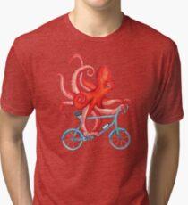 Radfahren Octopus Vintage T-Shirt