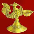 Indian metal lamp by sneha