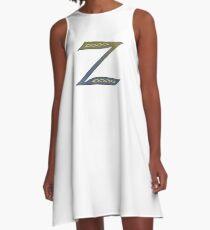 Celtic Knotwork Alphabet - Letter Z A-Line Dress
