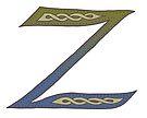 Celtic Knotwork Alphabet - Letter Z by Carrie Dennison