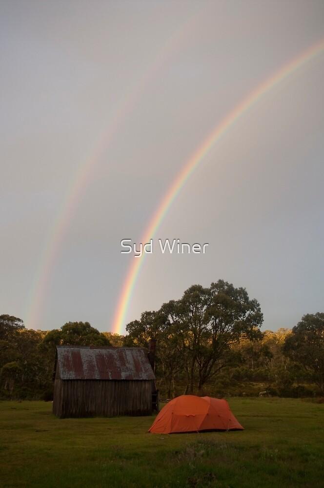 Rainbow - Tin Mine Huts by Syd Winer