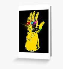 The Infinity gauntlet Greeting Card