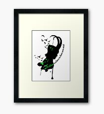 A Villian is a hero Framed Print
