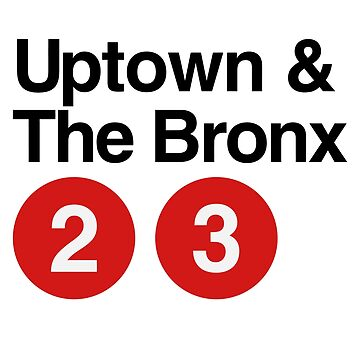 Uptown & The Bronx 2 3 by typographywords