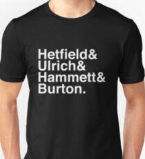 Metallica Original Line-Up Typografie Slim Fit T-Shirt