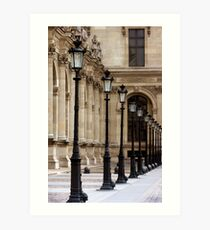 Lamposts at the Louvre  Art Print