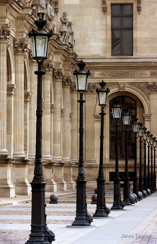 Lamposts at the Louvre  by Jenni Tanner
