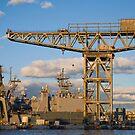 Historic crane by Alexander Meysztowicz-Howen