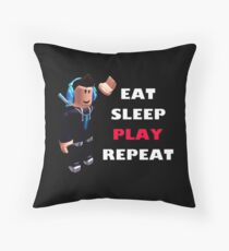 Roblox - Eat Sleep Play Repeat Throw Pillow