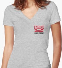 Engine 2 Plant-Strong Women's Fitted V-Neck T-Shirt