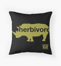 Herbivore Green Throw Pillow