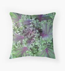Fresh Red Kale From the Garden Throw Pillow