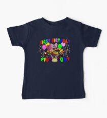 FIRST BIRTHDAY PIG OUT! Baby Tee