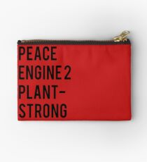 Peace, Engine 2, Plant-Strong Studio Pouch
