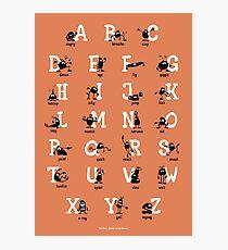 Alphabet - Orange Photographic Print