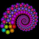 Bubbly spiral by Joan Marie Flaherty