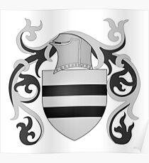 French France Coat of Arms 1160 Blason d'Allonville médiéval  Poster
