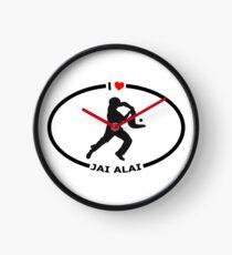 I Love Jai Alai with Heart Clock