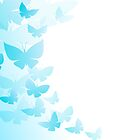 Duvet Cover Butterfly Blue Butterflies Flying Off by CreatedProto