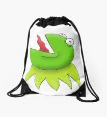 Screaming Kermit the Frog Drawstring Bag