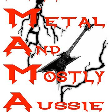 theFMLpodcast - All Metal And Mostly Aussie (white) by thefmlpodcast