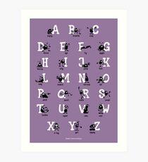Alphabet - Purple Art Print