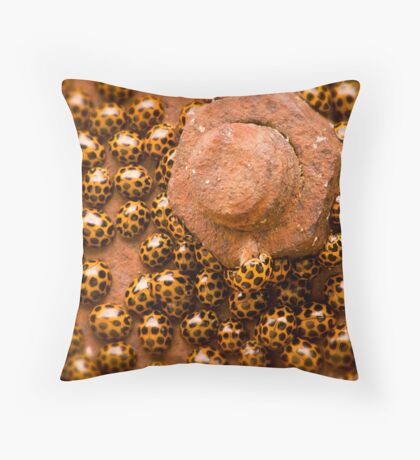 """If we ever get this nut off - anyone got a spanner?"" Throw Pillow"