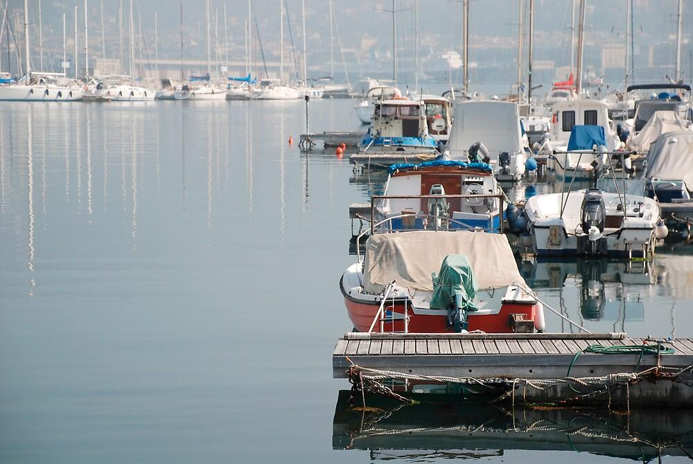 Boats in Trieste Harbour by jojobob