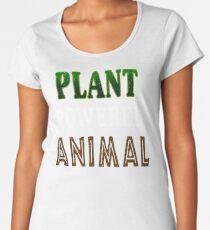Plant Powered Animal Women's Premium T-Shirt