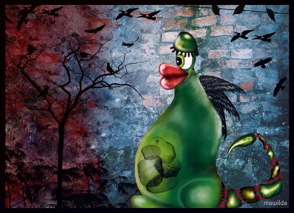 Green stone swallower by mawilda