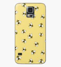 Nahtloses Muster der Biene Hülle & Klebefolie für Samsung Galaxy