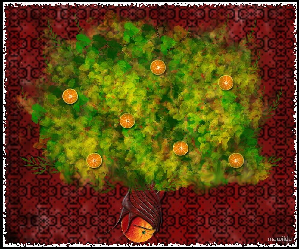 Orange tree by mawilda