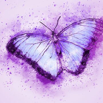 Purple butterfly by Ukubach