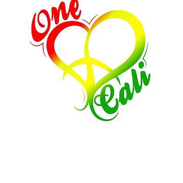 MAD THREDZ, ONE LOVE CALI DESIGN by MADthredz