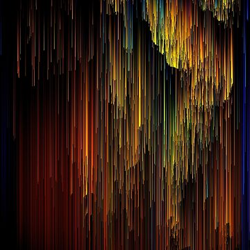 Spectrum Rain - Glitchy Abstract Pixel Art by InsertTitleHere