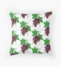 Purple Grapes on a vine Floor Pillow
