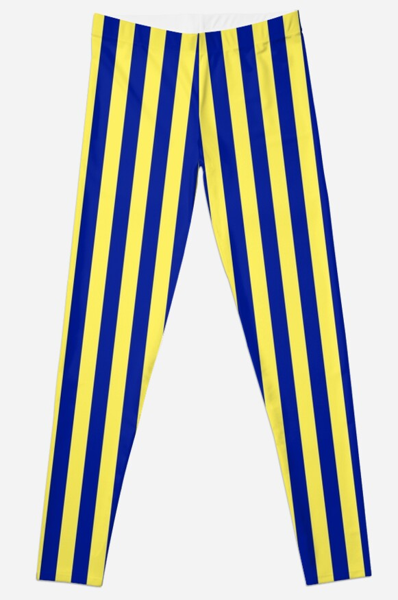 Tailgate - Navy and Gold Stripe by madisonlacey