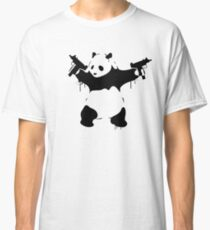 Banksy Panda With Guns Classic T-Shirt