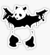 Banksy Panda With Guns Sticker