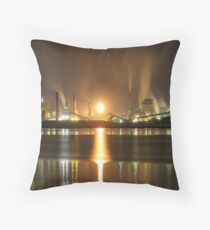 Steel and Water Throw Pillow