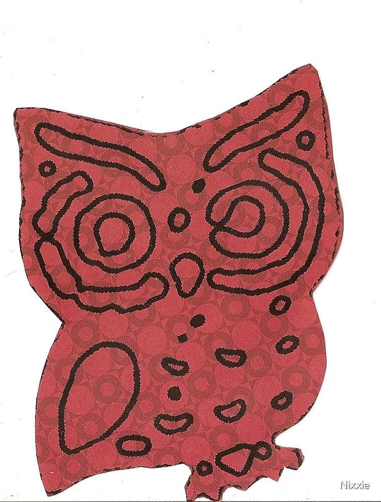 Retro Owl Craftwork by Nixxie