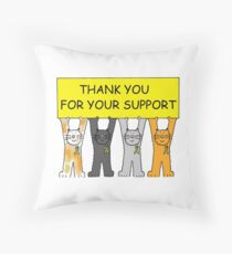 Yellow ribbon, thank you for your support. Throw Pillow